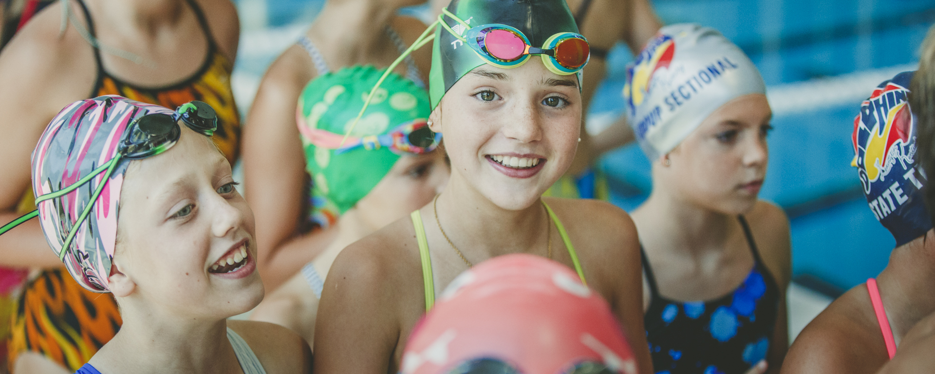swimmers smiling